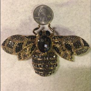 🌻LARGE Black & Gold Bee Brooch